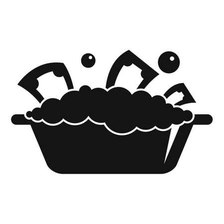 Basin money wash icon, simple style