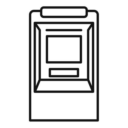 Atm icon, outline style