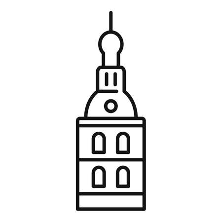 Riga cathedral icon, outline style