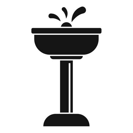 Airport drinking faucet icon, simple style
