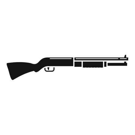 Police shotgun icon, simple style