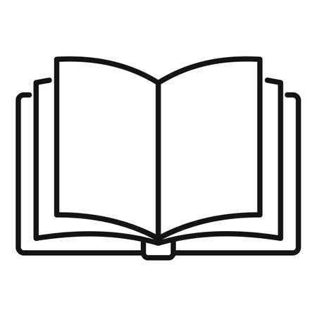Storyteller open book icon, outline style