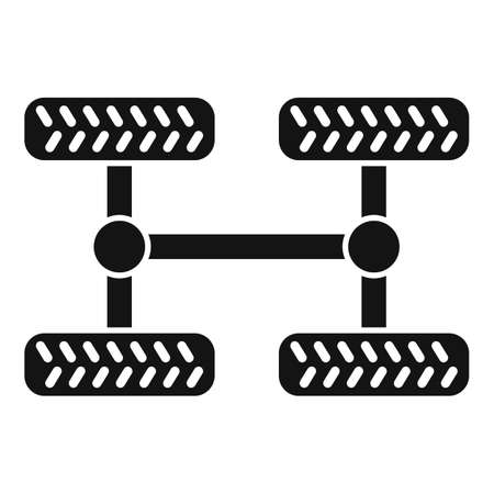 Car chassis icon, simple style 版權商用圖片