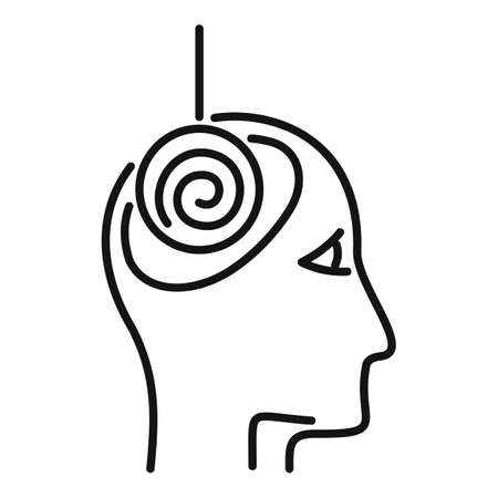 Hypnosis treatment icon, outline style