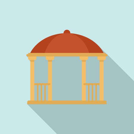 Bower gazebo icon, flat style