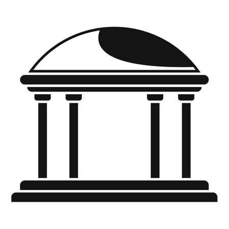 Gazebo icon, simple style