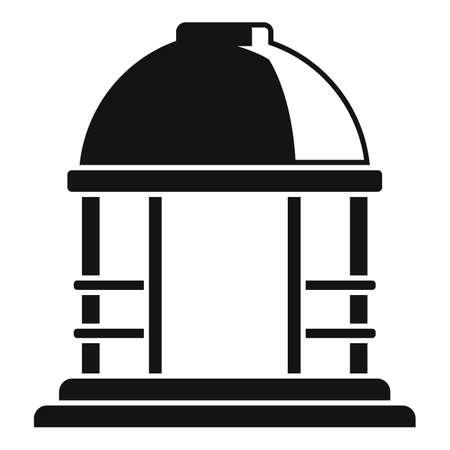 Summer gazebo icon, simple style Banco de Imagens