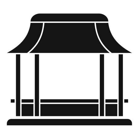 Cafe gazebo icon, simple style