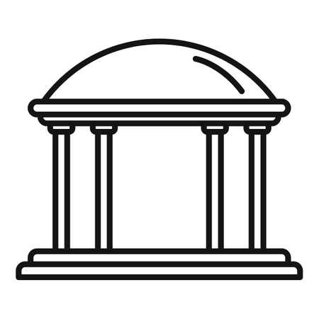 Gazebo icon, outline style