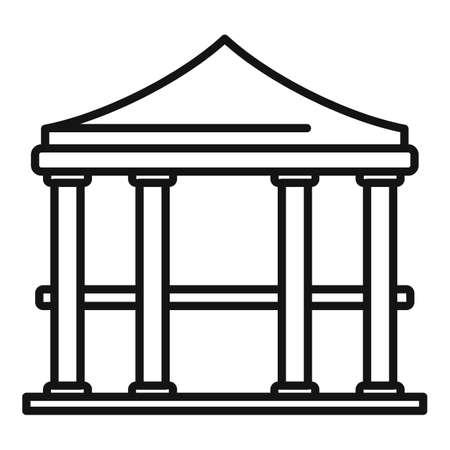 Bower gazebo icon, outline style