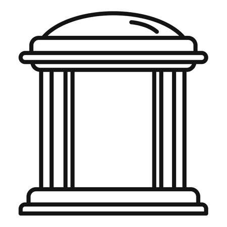 Cafe gazebo icon, outline style Banco de Imagens