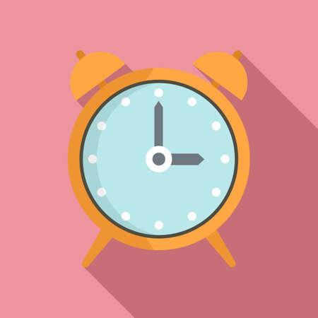 Alarm clock repair icon, flat style