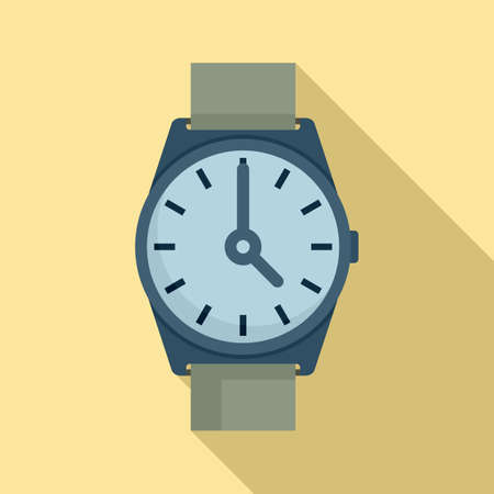 Hand watch repair icon, flat style