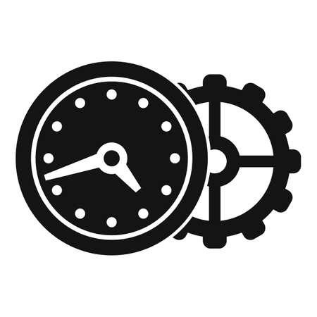 Wall clock repair icon, simple style Banco de Imagens