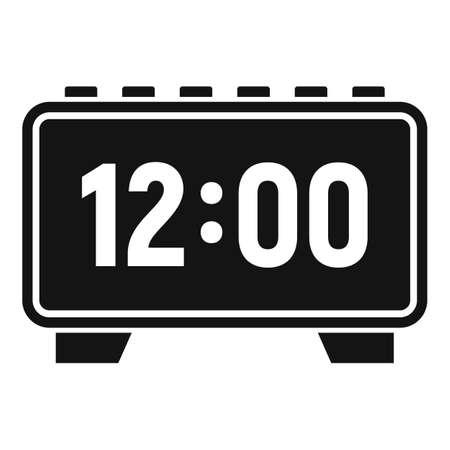 Digital alarm clock repair icon, simple style Banco de Imagens