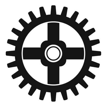 Watch cog wheel piece icon, simple style Banco de Imagens