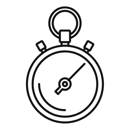 Stopwatch repair icon, outline style