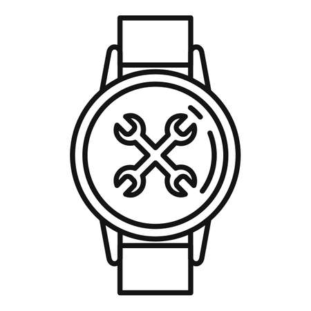 Handwatch repair icon. Outline handwatch repair icon for web design isolated on white background