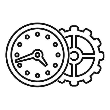 Wall clock repair icon, outline style