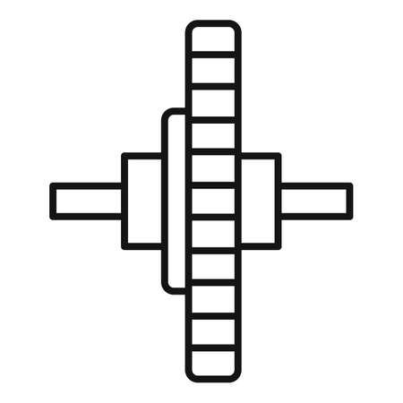 Watch repair cogwheel icon, outline style Banco de Imagens