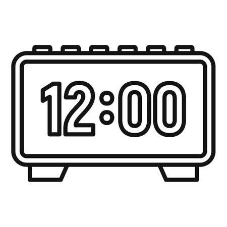 Digital alarm clock repair icon. Outline digital alarm clock repair icon for web design isolated on white background