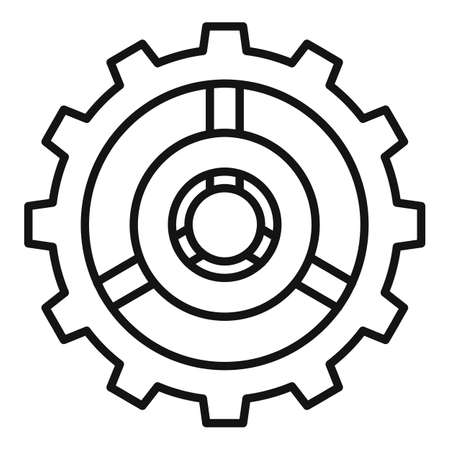 Watch cog wheel icon, outline style