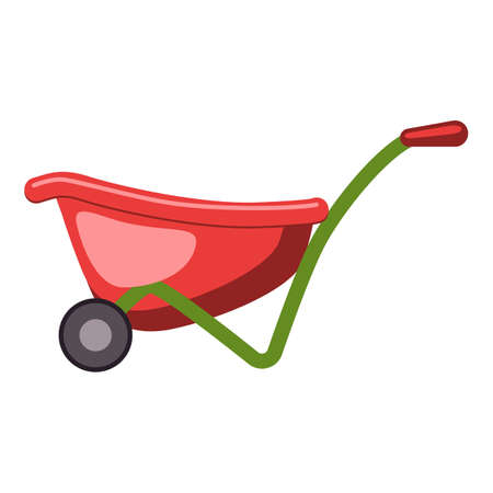 Farming wheelbarrow icon, cartoon style Stockfoto
