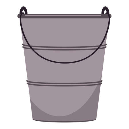 Farming metal bucket icon, cartoon style Stockfoto