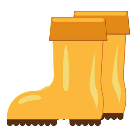 Farming boots icon, cartoon style