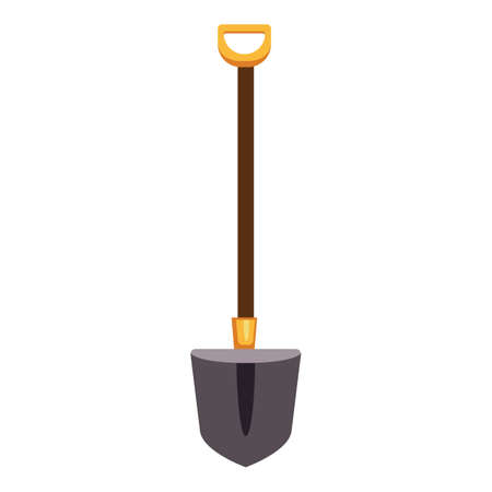 Farming shovel icon, cartoon style