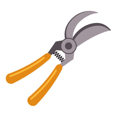 Farming secateurs icon, cartoon style