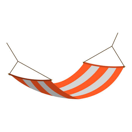 Striped hammock icon, cartoon style