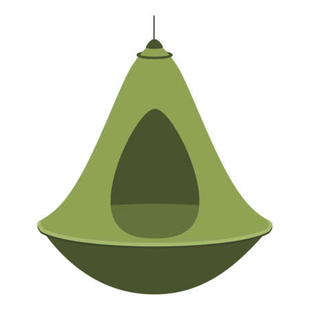Lamp hammock icon, cartoon style