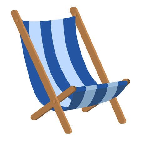 Chair hammock icon, cartoon style Stockfoto