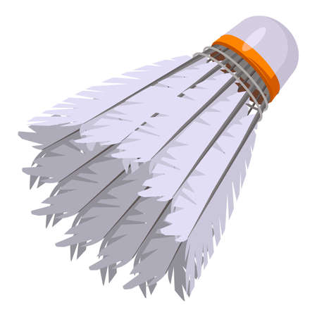 Sport shuttlecock icon, cartoon style Stockfoto