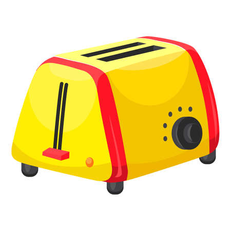 Toaster icon, cartoon style