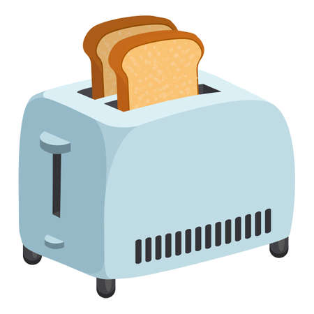 Kitchen toaster icon, cartoon style Stockfoto