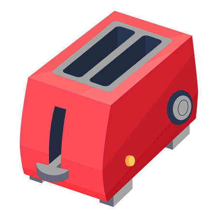 Retro red toaster icon, cartoon style Stockfoto