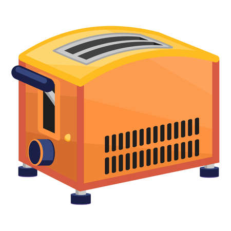 Electronic toaster icon, cartoon style