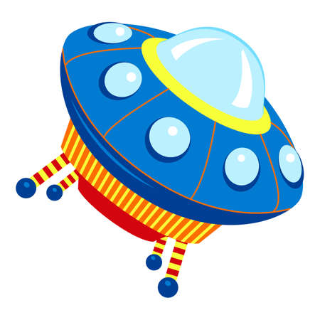 Universe ufo icon, cartoon style