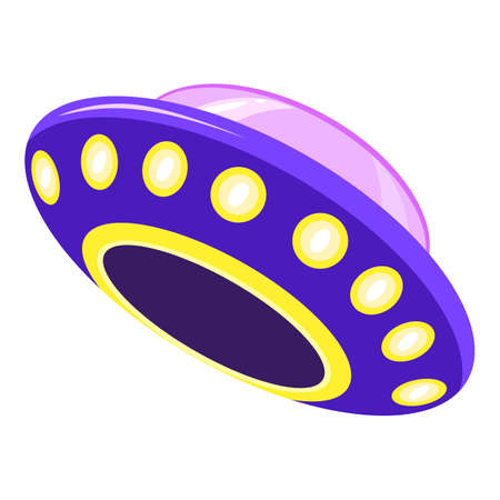 Civilization ufo icon, cartoon style