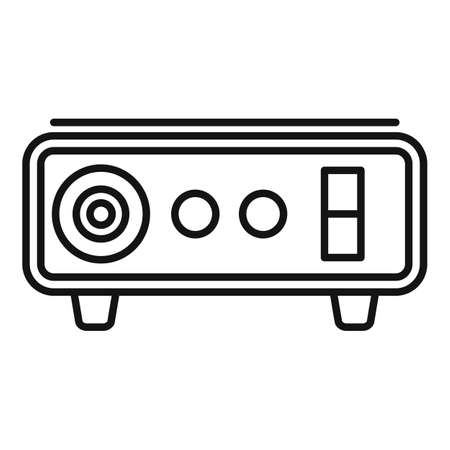 Tattoo device machine icon, outline style