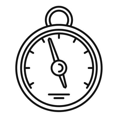 Home barometer icon, outline style Archivio Fotografico