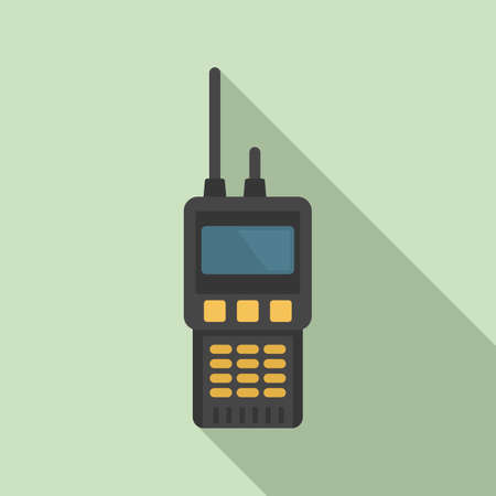 Walkie talkie radio icon, flat style