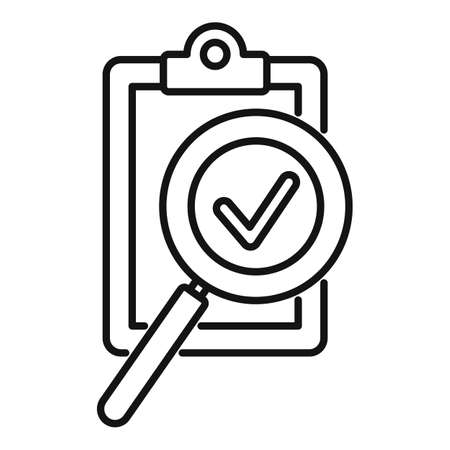 Clipboard exploration icon isolated on white