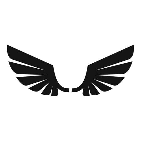 Wings angel icon, simple style Archivio Fotografico