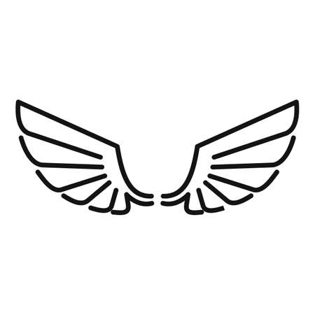 Wings angel icon, outline style