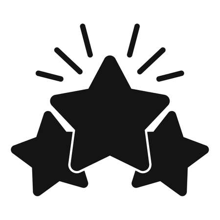 Shiny star reputation icon, simple style