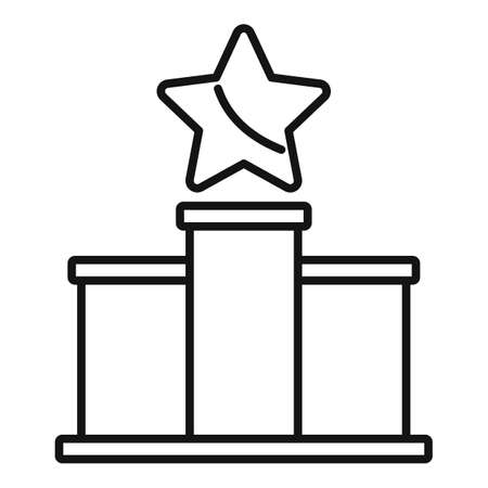 Podium reputation icon, outline style