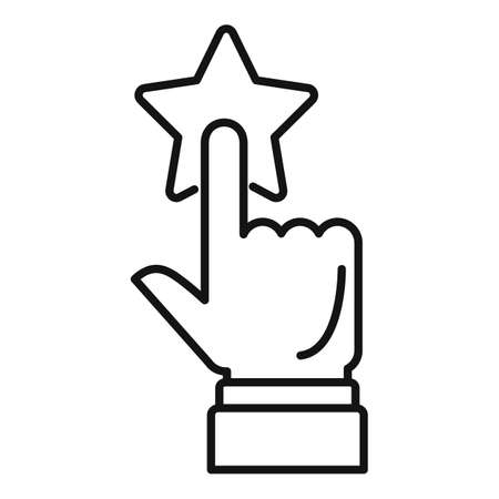 Credibility reputation icon, outline style